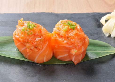 Gunkan Sake Tartare - Riso, salmone, tartare di