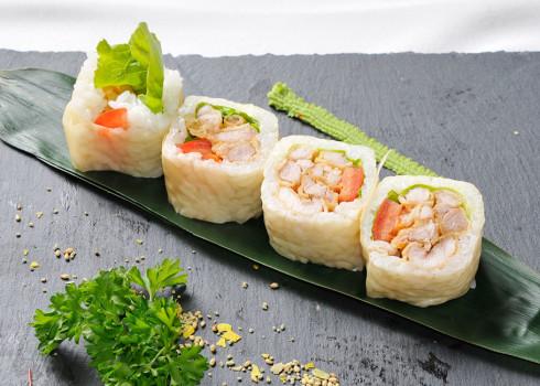 Soy Futomaki - Sfoglia di soia naturale pollo fritto, insalata, pomodoro