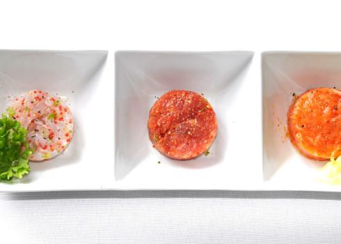 Tris di tartare - Salmone, tonno, branzino